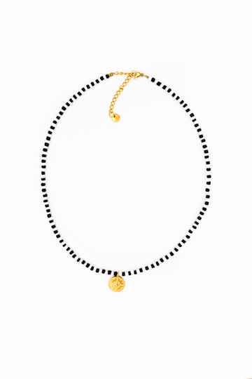 Big coin necklace gold