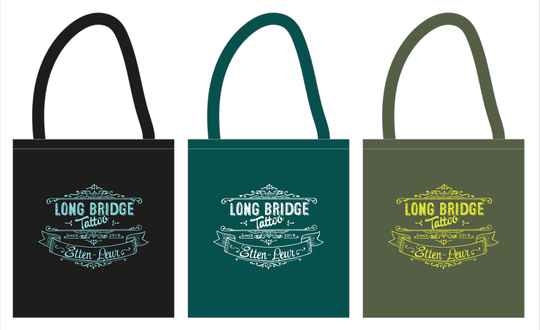 Katoenen tas logo Long Bridge Tattoo