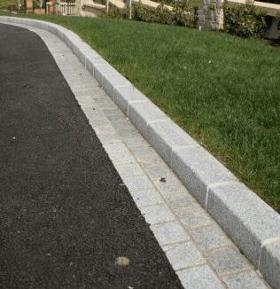Silver Granite Kerb (bush hammered)