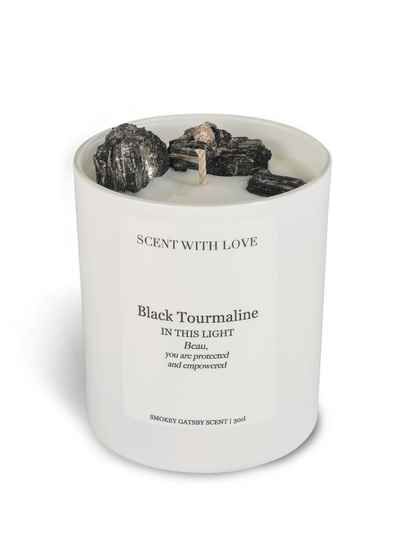 Black Tourmaline Candle White | Scent With Love
