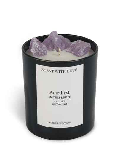 Amethyst Candle Black | Scent With Love