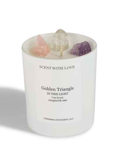 Golden Triangle Candle White | Scent With Love