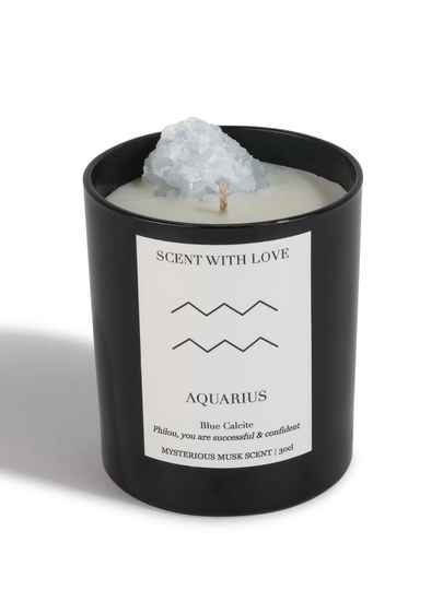 Zodiac Candle | Waterman | Scent With Love
