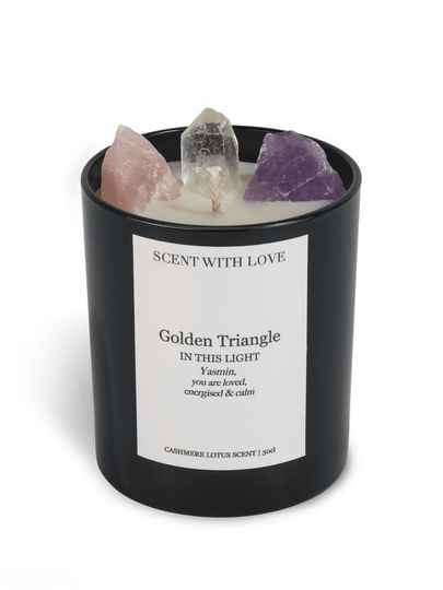 Golden Triangle Candle Black | Scent With Love