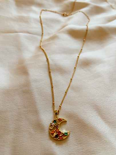 Necklace star moon