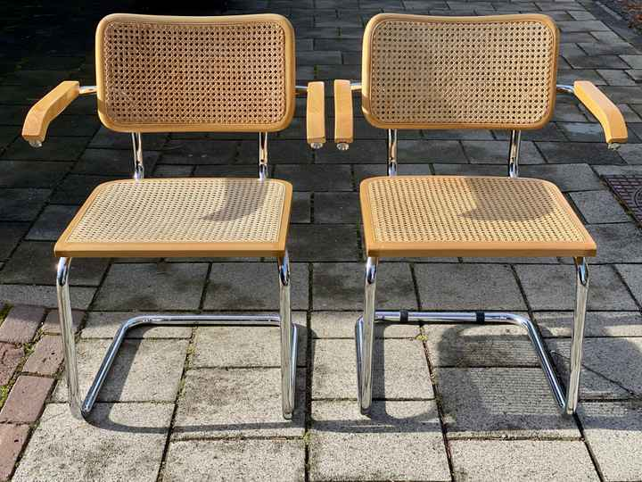 """Webbing chair - """"Cesca"""" Made in Italy - set of 2"""