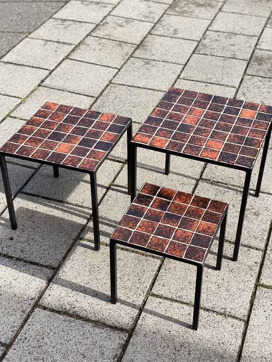 Nesting Tables with tiles - Set of 3