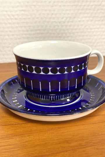 "Arabia Finland ""Valencia"" - Coffee cup and saucer (1)"