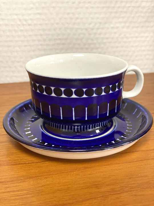 """Arabia Finland """"Valencia"""" - Coffee cup and saucer (1)"""