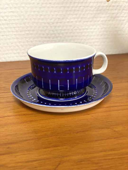 """Arabia Finland """"Valencia"""" - Coffee cup and saucer (2)"""
