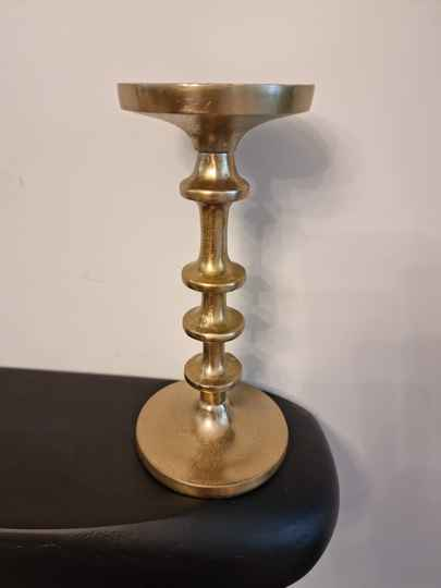Bubble candle holder goud