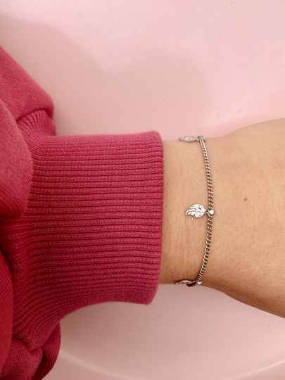 Armbandje Silver With Feathers (RVS)