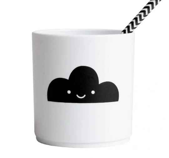 Happy clouds tumbler WHITE edition - Buddy and Bear