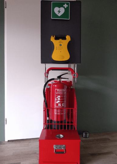 SafeCaddy® Compact + automatische AED (aanbieding)
