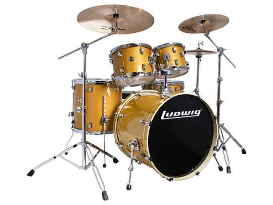 Ludwig Evolution, Gold Sparkle 5 piece 22 inch