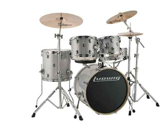 Ludwig Evolution, Silver White Sparkle 5 piece 20 inch