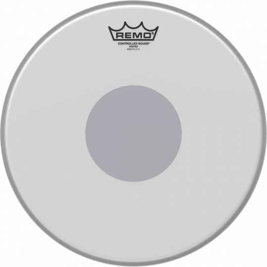 "Remo 13"" Ambassador Coated CS Snaredrum Batter Bottom Black Dot"
