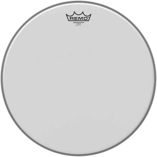 "Remo 12"" Ambassador Coated Batter."