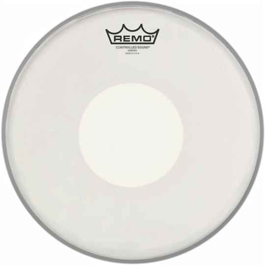 "Remo 12"" Ambassador Coated CS Snaredrum Batter Bottom White Dot"