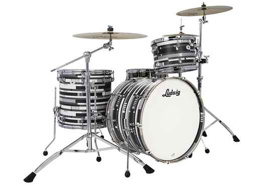 Ludwig NeuSonic Kit, Digital Black Oyster 22""