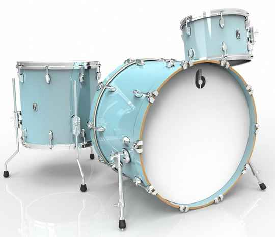 British Drum Co, Legend Club 22 Skye Blue drumset