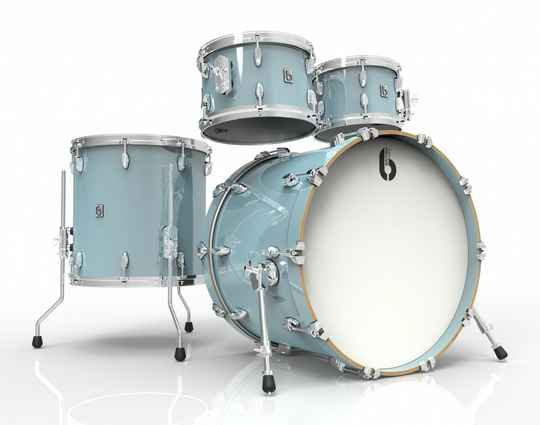 British Drum Co, Legend Fusion 22 Skye Blue drumset