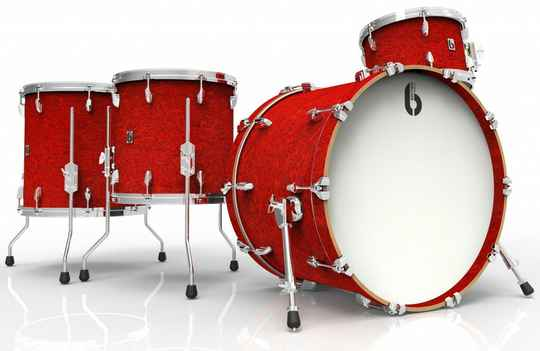 British Drum Co, Legend Rock 22 Buckingham Scarlett drumset