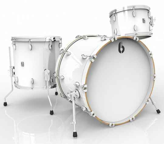 British Drum Co, Legend Club 22 Piccadilly White drumset