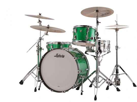 Ludwig Classic Maple, Pro Beat Green Sparkle 24""