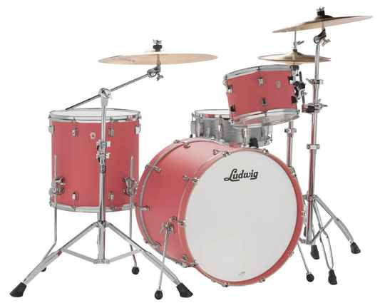 Ludwig NeuSonic Kit, Coral Red, 22""