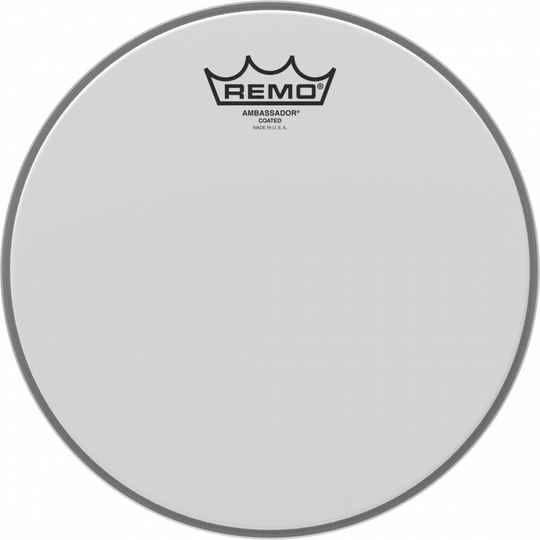 "Remo 10"" Ambassador Coated Batter."