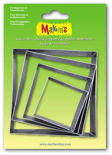 Stainless Steel Cutter Square 4 PC Set (36502MC)