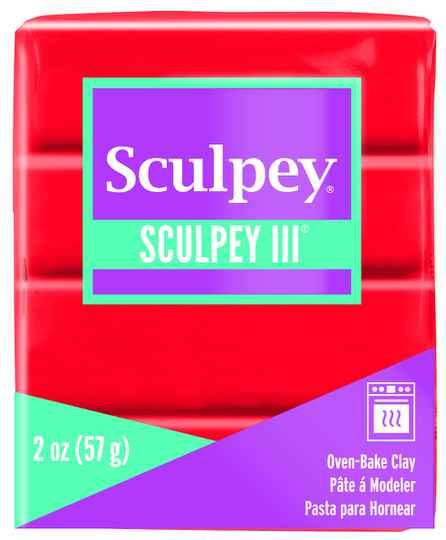Sculpey III -- Red Hot Red (583)