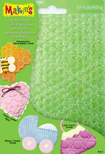 Makins Texture Sheets Set C (Honeycomb, Weave, Eyelet, Lace)