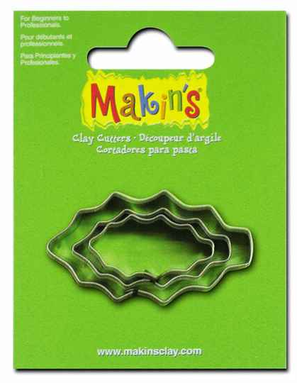 Stainless Steel Cutter Holly Leaf 3 PC Set (36028MC)
