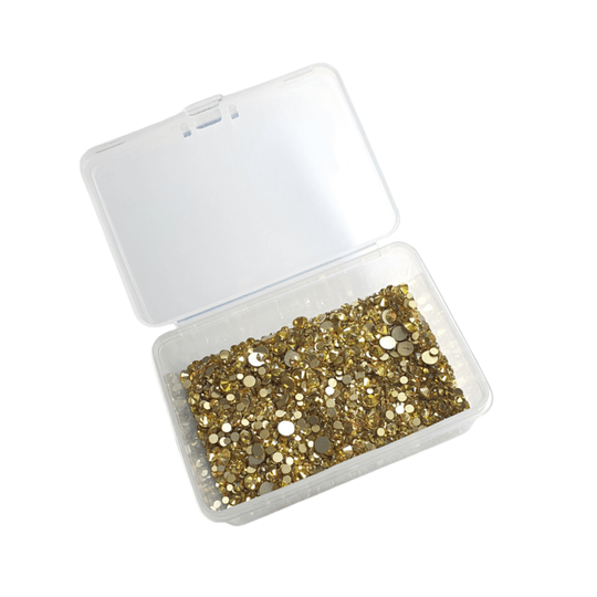 PNS Rhinestone Mix Gold in opvangbakje