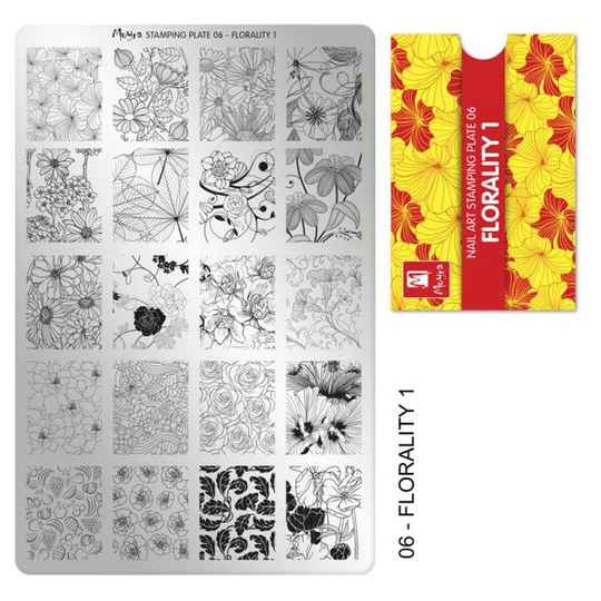 Stampingplate nr. 06 Florality 1