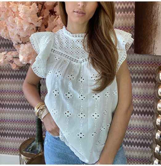 Broderie Top White