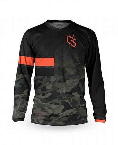 Loose Riders C/S Long Sleeve Jersey Dipped Camo