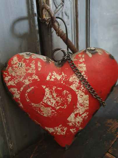 """Heart Old Iron """"Red"""""""