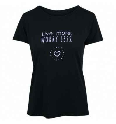 T-SHIRT LIVE MORE WORRY LESS