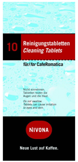 Reiniging tabletten T.B.V. Nivona Caferomatica machines