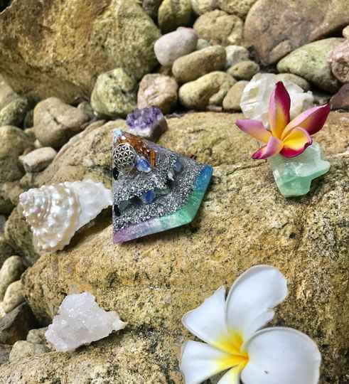 Galactic Starseed Activation Orgone Orgonite® Pyramid For Grounding, Protection & Good fortune