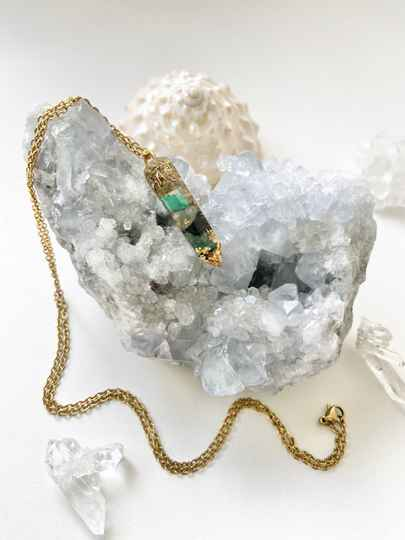 Jungle God(dess) Orgone Orgonite® Pendant For Empowerment, Heart Opening & Connection