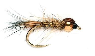Hare's ear Natural Gold Barbless