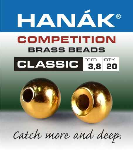 Brass Beads Hanak Competition CLASSIC  GOLD