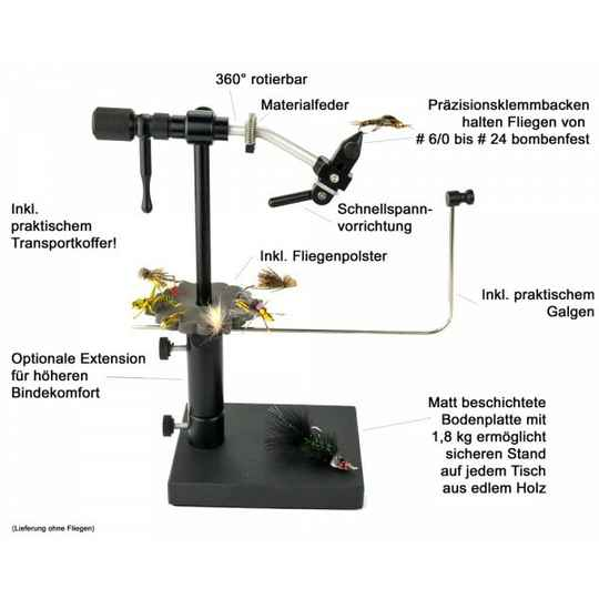 Rotary Deluxe Vise with pedestal