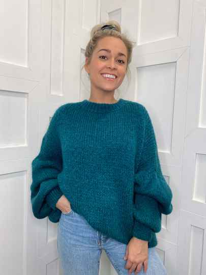 Oversized Jumper Ocean Blue