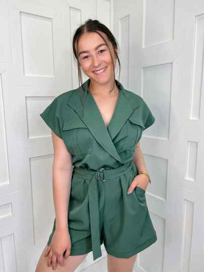 Short Jumpsuit Army Green