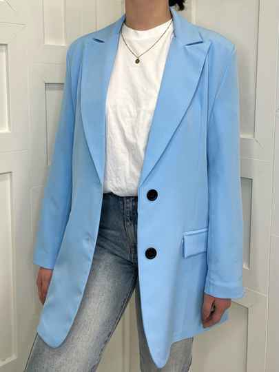 Oversized Blue Blazer